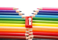 De ritssluiting van het potlood Stock Afbeelding