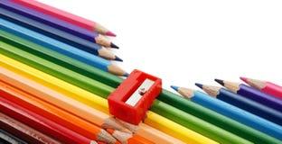 De ritssluiting van het potlood Royalty-vrije Stock Fotografie