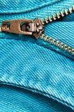 De ritssluiting van jeans Stock Foto