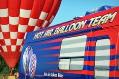 De Ritten van de hete Luchtballon Stock Fotografie