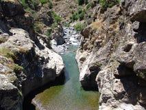 De rivier Asco in Corsica Stock Foto's