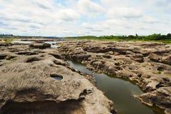 De rivier bij 3000 boke, Thailand Stock Fotografie