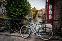 De rivier in Brugge stock foto