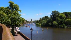 De rivier Dee in Chester, Noordelijk Engeland royalty-vrije stock foto