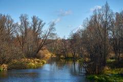 De rivier in een zonnige dag Stock Foto