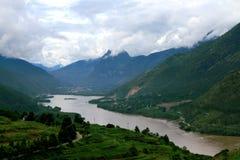 De Rivier Eerste Baai van Lijiangyangtze, China stock afbeeldingen