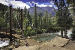 De rivier en de brug van Colorado Stock Fotografie