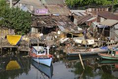 De Rivier fishermens huizen van Vietnam Phu Quoc Royalty-vrije Stock Afbeelding
