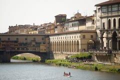 De rivier Florence van Arno Royalty-vrije Stock Afbeeldingen
