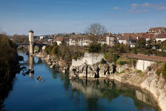 De rivier gaf DE Pau royalty-vrije stock foto