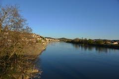 De rivier Gardon in Frankrijk Royalty-vrije Stock Afbeelding