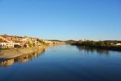 De rivier Gardon in Frankrijk Royalty-vrije Stock Foto's