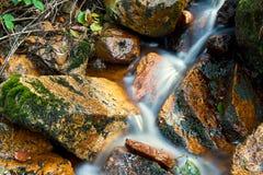 De rivier Ilse in Ilsenburg in het Nationale Park van Harz stock foto