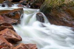 De rivier Ilse in Ilsenburg in het Nationale Park van Harz stock foto's