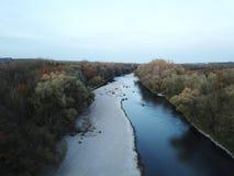 De rivier Isar van Beieren royalty-vrije stock foto's