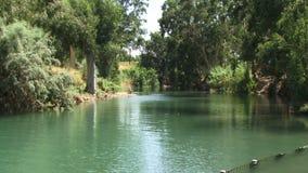 De rivier Israël van Jordanië stock footage