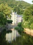 De rivier Karlovy van Tepla variërt Royalty-vrije Stock Fotografie
