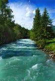 De rivier Kucherla 2 van de berg Stock Fotografie