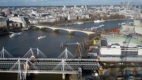De Rivier Londen het UK van Theems - Voorraadbeeld Stock Afbeeldingen