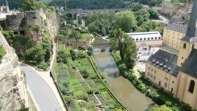 De rivier Luxemburg van Alzette Stock Afbeeldingen