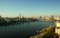De rivier Nijl in Kaïro Royalty-vrije Stock Foto's