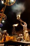 De Rivier Puja Ceremony, Varanasi India van Ganges Royalty-vrije Stock Foto's