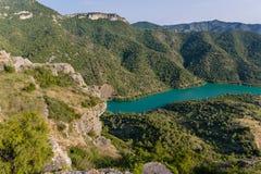 De rivier Siurana Royalty-vrije Stock Foto's