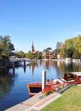 De rivier Theems in Marlow Royalty-vrije Stock Afbeeldingen