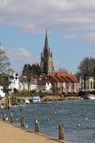De rivier Theems in Marlow in Engeland royalty-vrije stock afbeeldingen