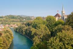 De rivier van Aar in Bern Royalty-vrije Stock Afbeeldingen