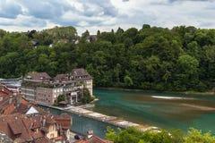 De rivier van Aare, Bern royalty-vrije stock afbeelding