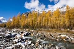 De rivier van Aktru royalty-vrije stock afbeeldingen