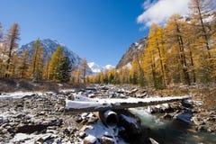 De rivier van Aktru stock afbeeldingen