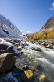 De rivier van Aktru stock foto's