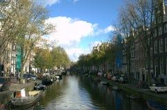 De rivier van Amsterdam stock afbeelding