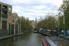 De rivier van Amsterdam stock foto