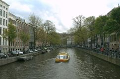 De rivier van Amsterdam stock foto's