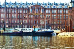 De rivier van Amsterdam en Amstel-, Nederland, Europa royalty-vrije stock afbeelding