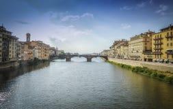 De Rivier van Arno in Florence royalty-vrije stock foto