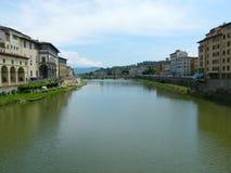 De rivier van Arno, Florence Stock Foto's
