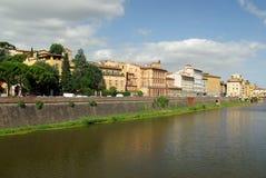 De Rivier van Arno, Florence, Italië Stock Afbeeldingen