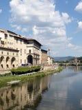 De Rivier van Arno, Florence Italië Royalty-vrije Stock Afbeelding