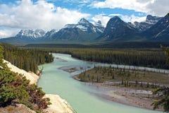 De Rivier van Athabasca Stock Afbeeldingen