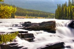 De Rivier van Athabasca Stock Afbeelding