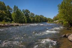De rivier van Aude Royalty-vrije Stock Fotografie