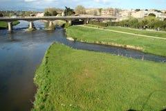 De rivier van Aude in Frankrijk Stock Afbeelding