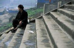 DE RIVIER VAN AZIË CHINA YANGZI Stock Fotografie