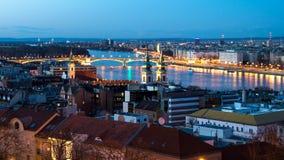 De rivier van Boedapest Donau Stock Foto's