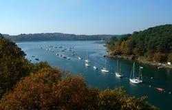 De rivier van Bono in Bretagne Royalty-vrije Stock Foto