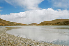 De rivier van Brahmaputra Royalty-vrije Stock Foto's